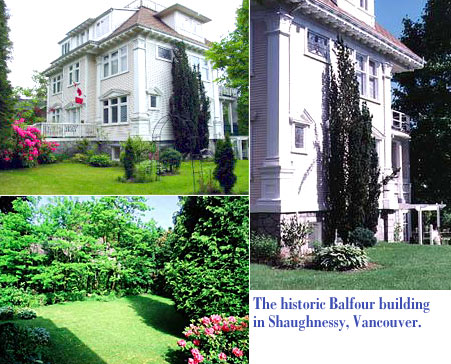 The historic Balfour building offerring bed and breakfast services in the Shanghnessy area of Vancouver, British Columbia Canada